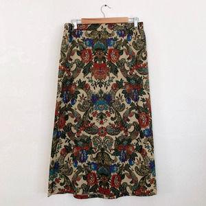 Vintage Anna G Rayon Blend Skirt Large